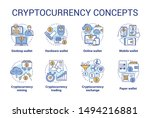 cryptocurrency concept icons... | Shutterstock .eps vector #1494216881