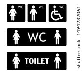 wc sign icon. washroom vector... | Shutterstock .eps vector #1494232061