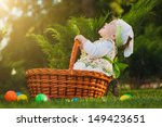 cute baby is playing in the park | Shutterstock . vector #149423651
