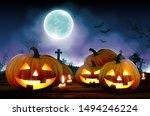 halloween night  background... | Shutterstock .eps vector #1494246224