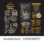 burger menu template for... | Shutterstock .eps vector #1494248957