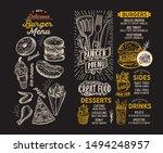 burger menu template for... | Shutterstock .eps vector #1494248957