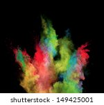freeze motion of colored dust... | Shutterstock . vector #149425001