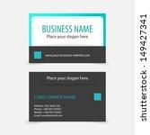 abstract modern business cards. ... | Shutterstock .eps vector #149427341