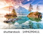 Lake Hintersee In Germany ...