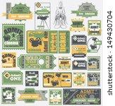vector set  tickets in...   Shutterstock .eps vector #149430704