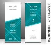 roll up banner vertical... | Shutterstock .eps vector #1494310094