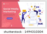 landing page template with... | Shutterstock .eps vector #1494310304