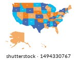 us map. vector map of usa ...   Shutterstock .eps vector #1494330767