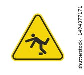 tripping hazard sign isolated... | Shutterstock .eps vector #1494377171