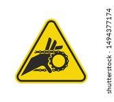 hand entanglement chain drive... | Shutterstock .eps vector #1494377174