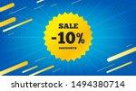 sale 10 percent off badge.... | Shutterstock .eps vector #1494380714
