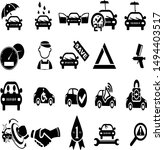 abstract  mechanic icons... | Shutterstock . vector #1494403517