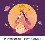 mid autumn festival chang'e and ... | Shutterstock . vector #1494438284