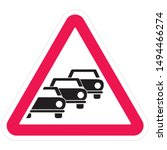 road sign  caution traffic... | Shutterstock .eps vector #1494466274