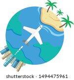 vacation trip planet flat... | Shutterstock .eps vector #1494475961