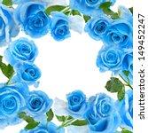 Frame Border Of Beautiful Blue...