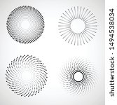 radial halftone dots in circle... | Shutterstock .eps vector #1494538034