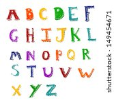 retro cartoon alphabet | Shutterstock . vector #149454671