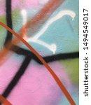 graffiti background  graffiti... | Shutterstock . vector #1494549017