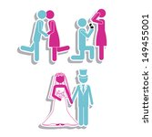 married design over white... | Shutterstock .eps vector #149455001