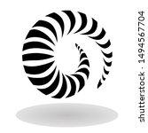 maori koru nautilus spiral icon ... | Shutterstock .eps vector #1494567704