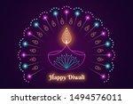 happy diwali banner  hindu... | Shutterstock .eps vector #1494576011