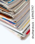 bunch of used magazines | Shutterstock . vector #14945797