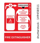 fire extinguishers appropriate... | Shutterstock .eps vector #149458511