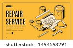 repair service isometric... | Shutterstock .eps vector #1494593291