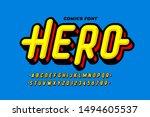comics super hero style font... | Shutterstock .eps vector #1494605537