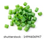spring chopped onions. green... | Shutterstock . vector #1494606947