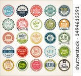 retro vintage badges and labels ... | Shutterstock . vector #1494613391