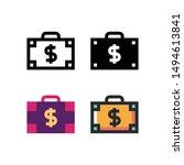 briefcase logo icon design in...