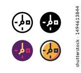 clock logo icon design in four...