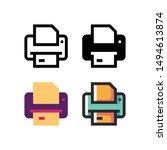 printer logo icon design in...