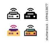 wifi logo icon design in four...