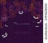 halloween background with witch ...   Shutterstock .eps vector #1494628034