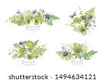 watercolor detailed composition ... | Shutterstock . vector #1494634121