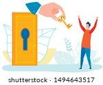 having opportunities because of ... | Shutterstock .eps vector #1494643517