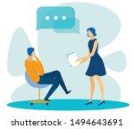 diverse office workers having... | Shutterstock .eps vector #1494643691