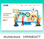 automated testing vector... | Shutterstock .eps vector #1494681677