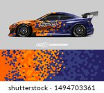 car wrap graphic. abstract... | Shutterstock .eps vector #1494703361