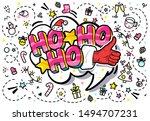 santa claus like in pop art... | Shutterstock .eps vector #1494707231