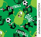 cute kids monster pattern for... | Shutterstock .eps vector #1494722954