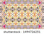 colorful horizontal ornament...   Shutterstock . vector #1494726251