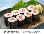 Blue fin tuna roll  japanese...