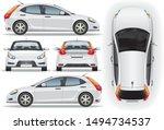 car vector template on white... | Shutterstock .eps vector #1494734537