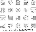 set of air icons  air condition ... | Shutterstock .eps vector #1494747527