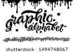 graphic alphabet. hand drawn... | Shutterstock .eps vector #1494748067